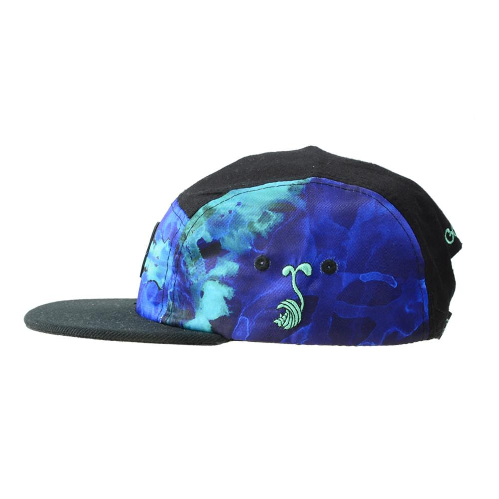 High Tide Blue 5 Panel Strapback - Grassroots California - 3