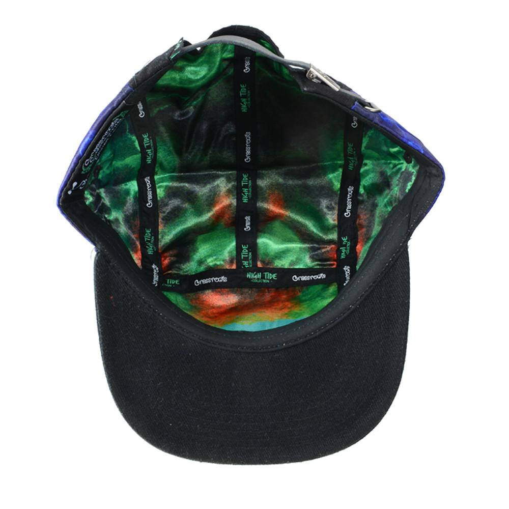 High Tide Blue 5 Panel Strapback - Grassroots California - 4