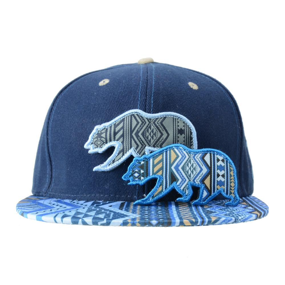 Removable Bear Blue Aztec Fitted - Grassroots California - 2