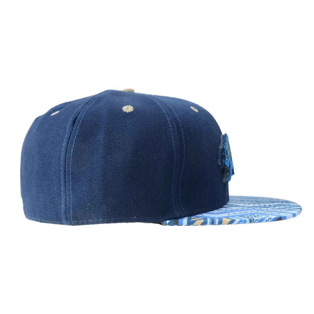 Removable Bear Blue Aztec Fitted - Grassroots California - 3