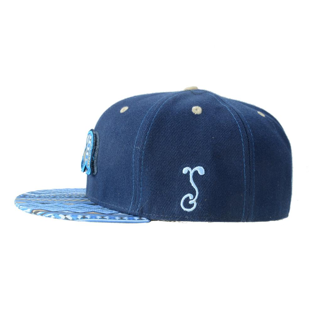 Removable Bear Blue Aztec Fitted - Grassroots California - 4