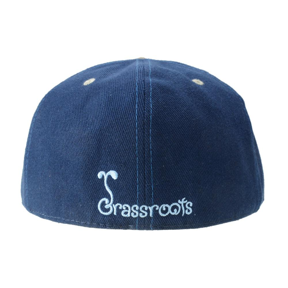 Removable Bear Blue Aztec Fitted - Grassroots California - 5