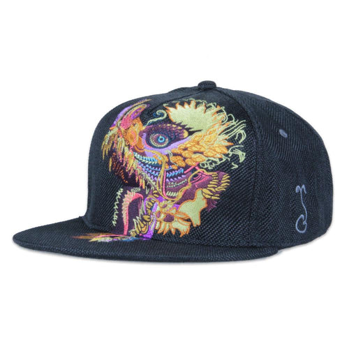 Android Jones Humming Dragon Black Shallow Fitted - Grassroots California - 1