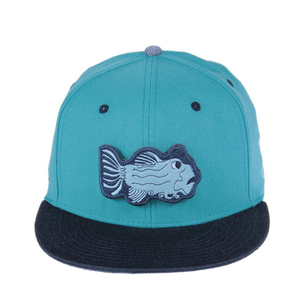 Jerry Garcia Removable Fish Teal Snapback - Grassroots California - 1