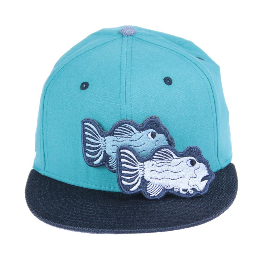 Jerry Garcia Removable Fish Teal Snapback - Grassroots California - 2