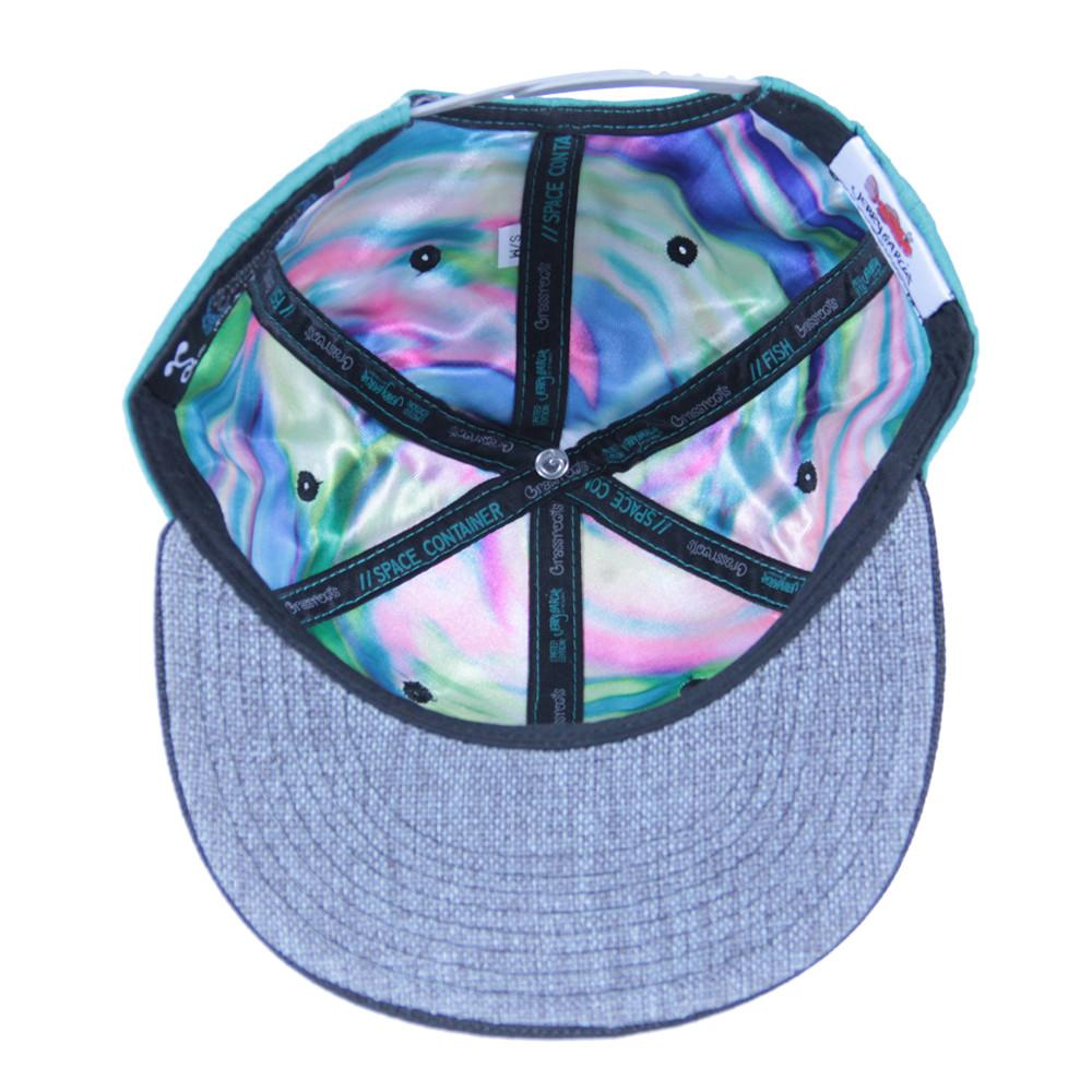 Jerry Garcia Removable Fish Teal Snapback - Grassroots California - 3