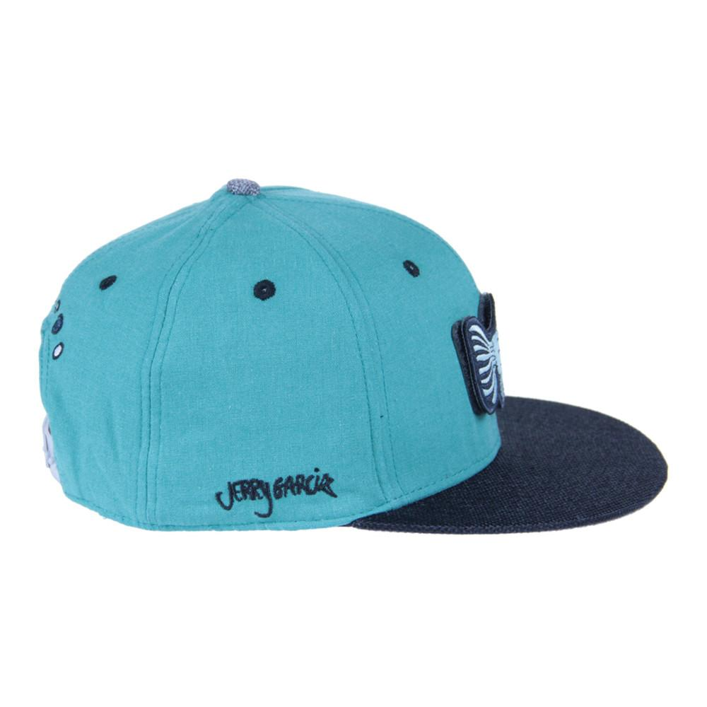 Jerry Garcia Removable Fish Teal Snapback - Grassroots California - 4