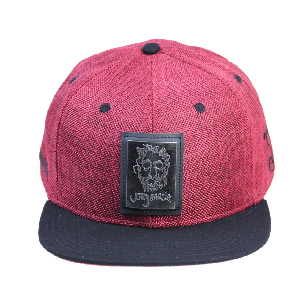 Jerry Garcia Metal Badge Face Red Snapback - Grassroots California - 3
