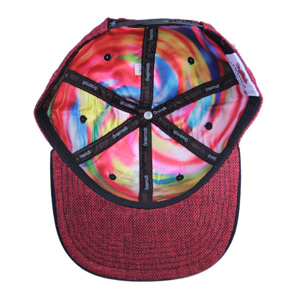 Jerry Garcia Metal Badge Face Red Snapback - Grassroots California - 2