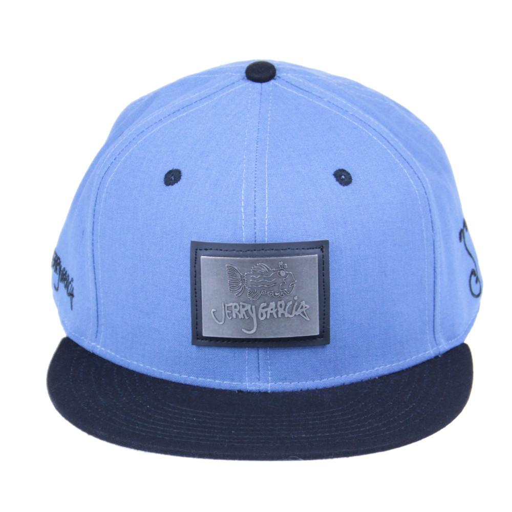 Jerry Garcia Metal Badge Fish Blue Snapback