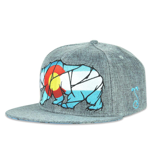 Colorado Mosaic Bear Gray Fitted