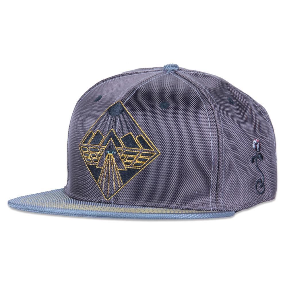 Eye Beams Brown Gray Snapback - Grassroots California - 1