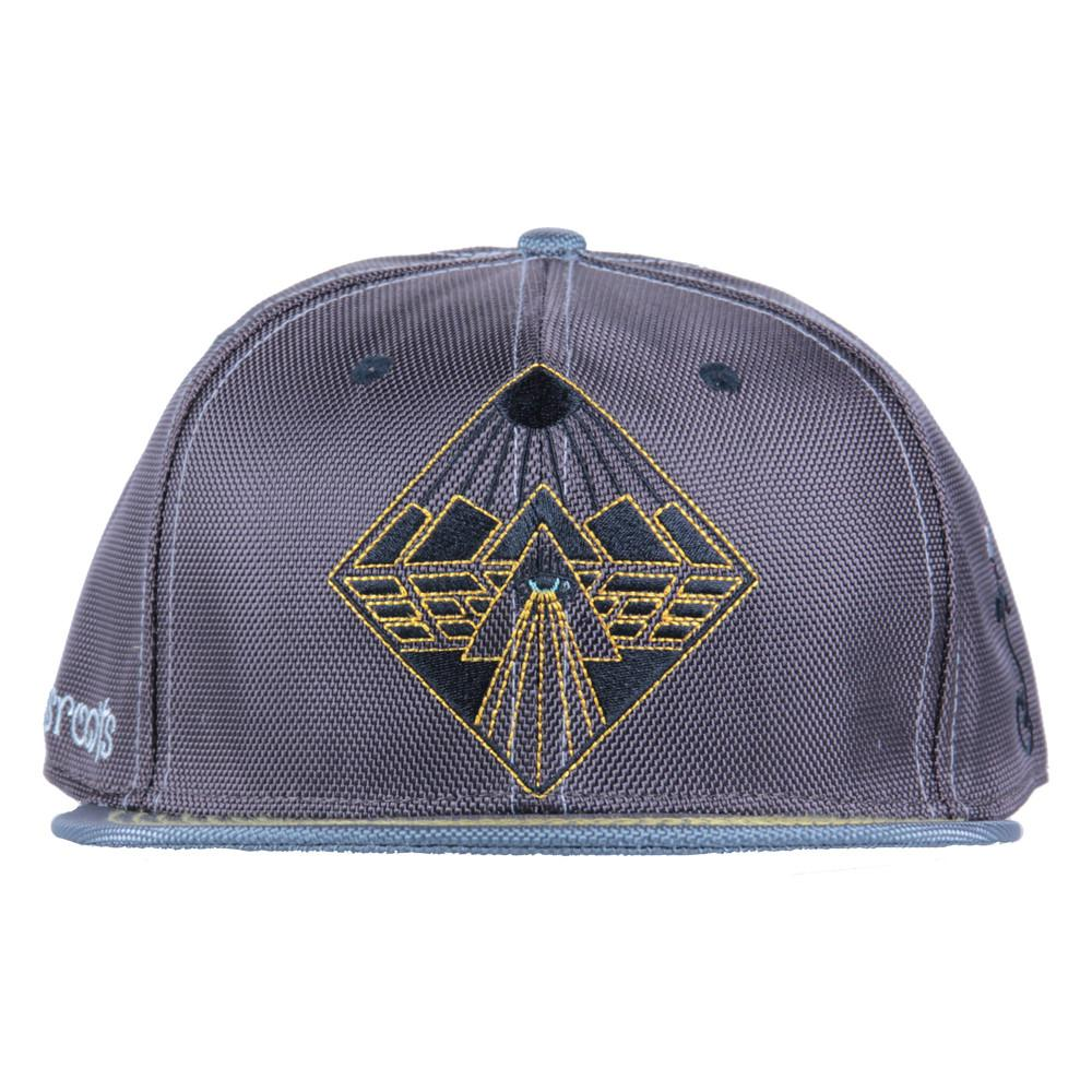 Eye Beams Brown Gray Snapback - Grassroots California - 3