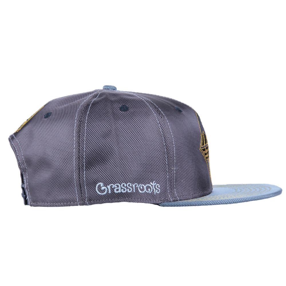 Eye Beams Brown Gray Snapback - Grassroots California - 4