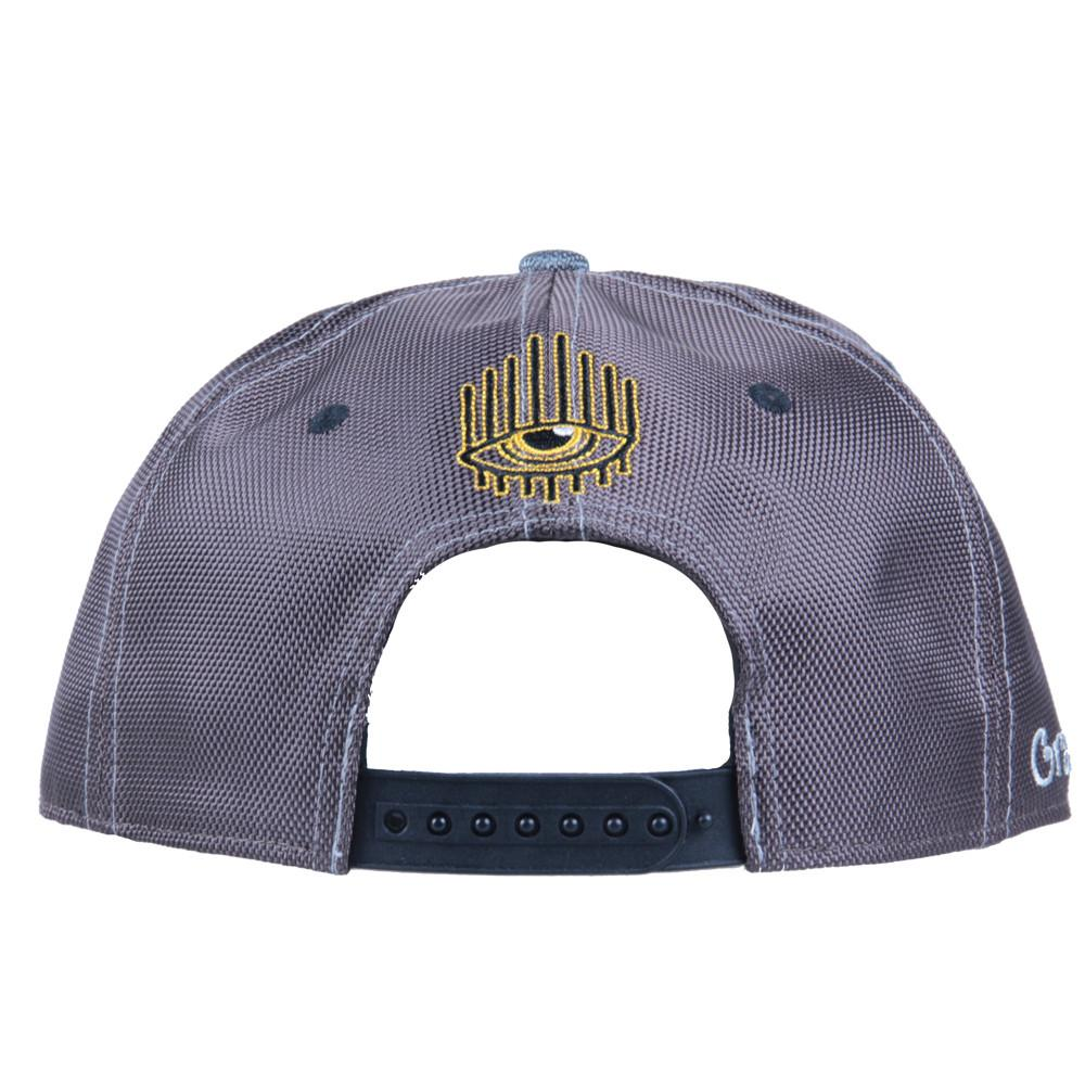 Eye Beams Brown Gray Snapback - Grassroots California - 5