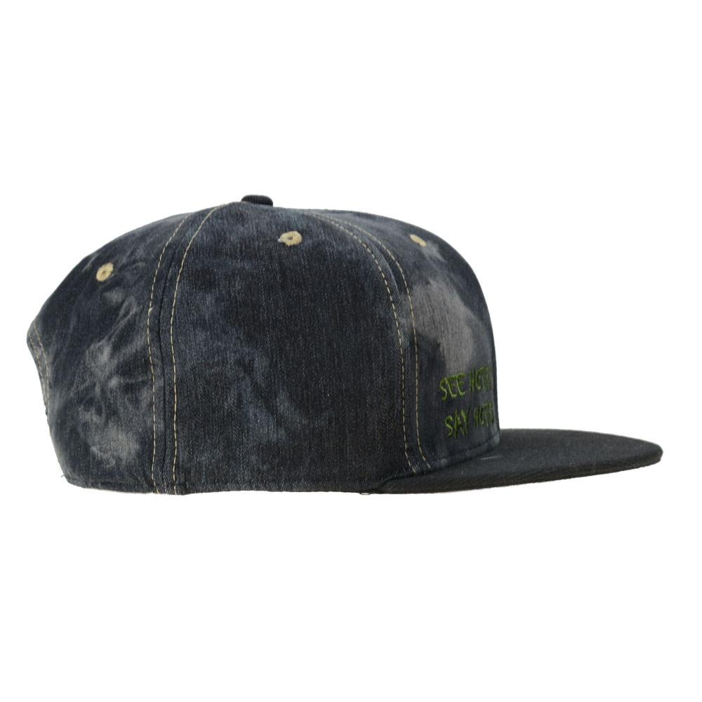 Ghost Glass Shrunken Head Denim Snapback - Grassroots California - 2