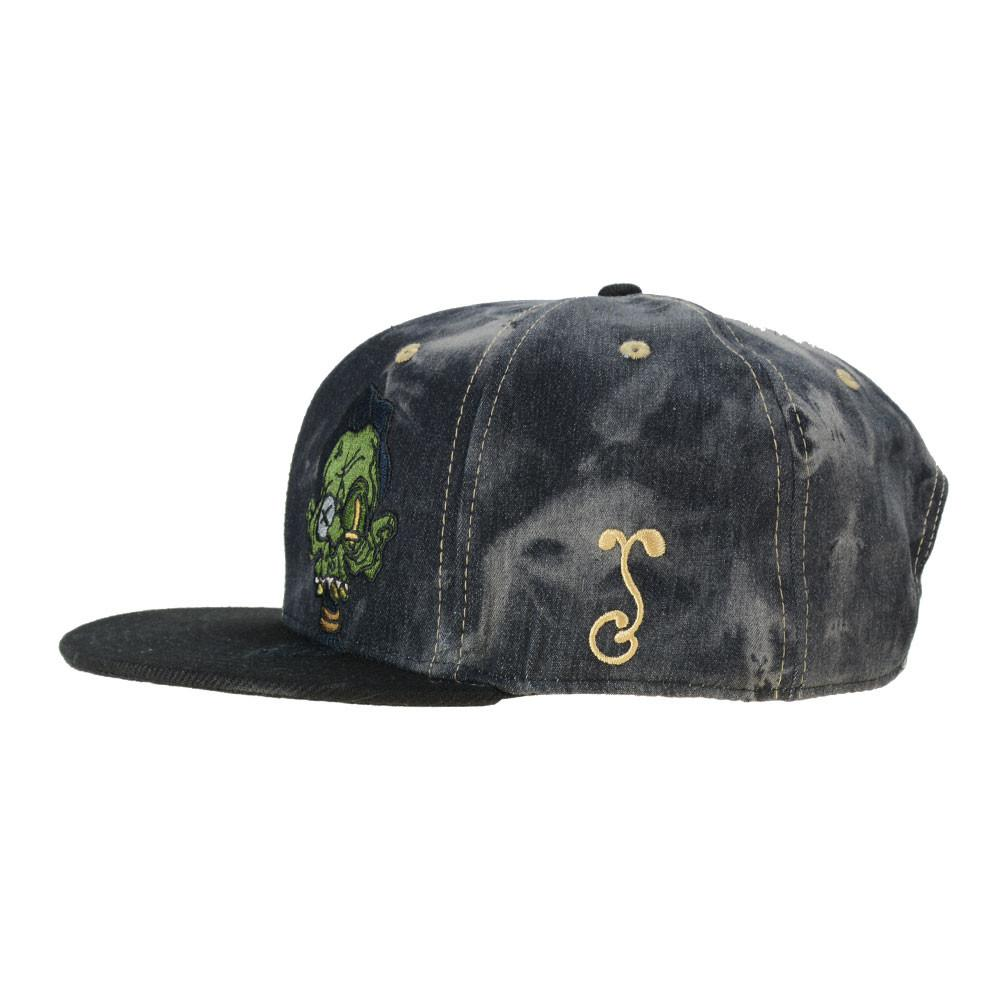 Ghost Glass Shrunken Head Denim Snapback - Grassroots California - 3