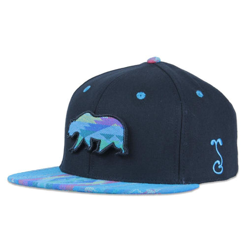 Removable Bear Aqua Andes Black Fitted - Grassroots California - 1