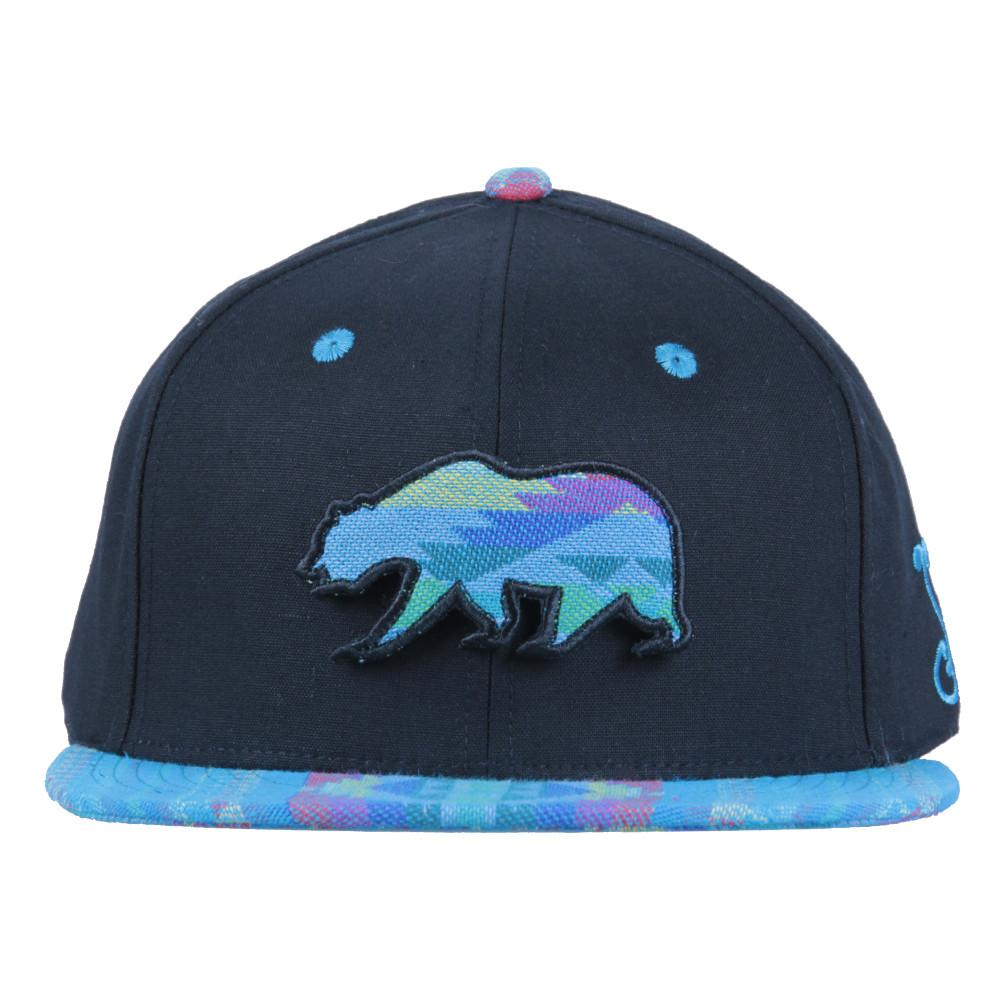 Removable Bear Aqua Andes Black Fitted - Grassroots California - 3