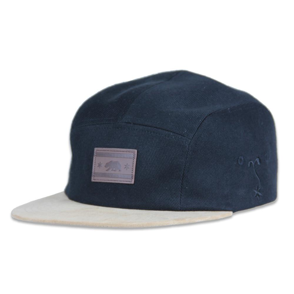 Chi Bear Leather Patch 5 Panel Strapback