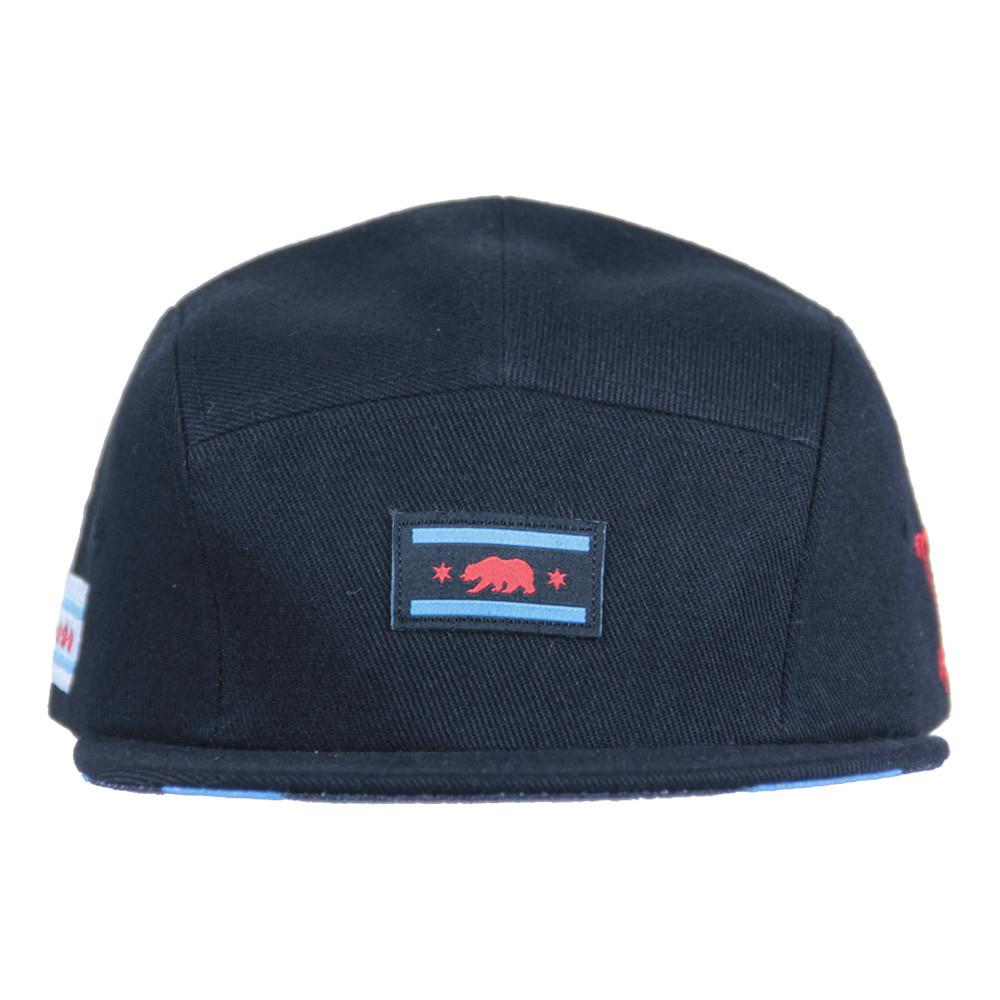 Chi Bear Black 5 Panel Snapback - Grassroots California - 2