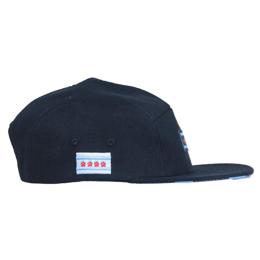 Chi Bear Black 5 Panel Snapback - Grassroots California - 3