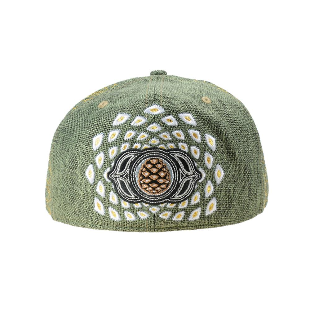 Third Eye Pinecone Panda Green Fitted - Grassroots California - 4