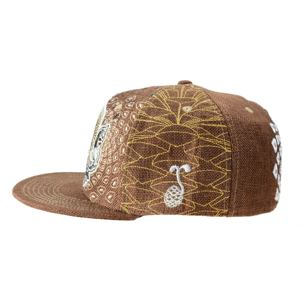 Third Eye Pinecone Panda Brown Fitted - Grassroots California - 3