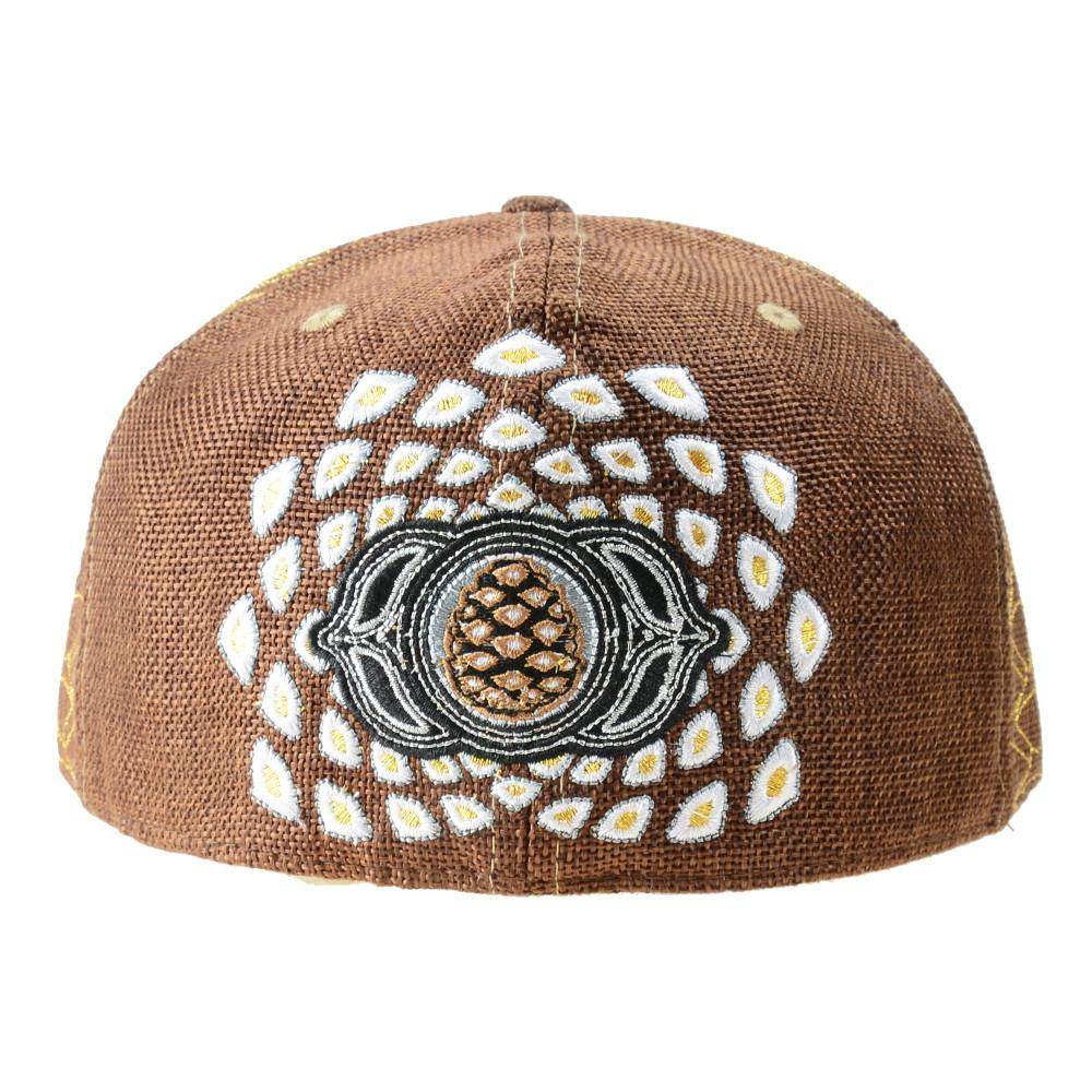 Third Eye Pinecone Panda Brown Fitted - Grassroots California - 4