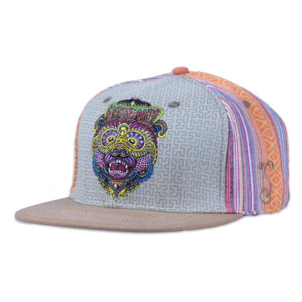 Chris Dyer Bear Orange Snapback - Grassroots California - 1