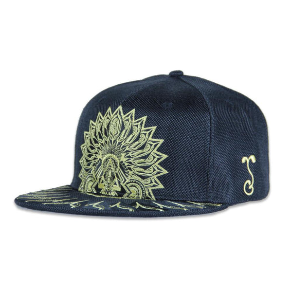 Psychedelic Aztec Black Gold Snapback - Grassroots California - 1