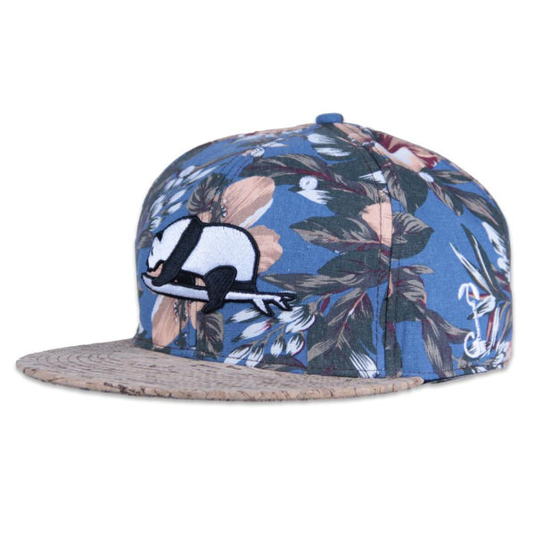 Floral Surfing Panda Cork Snapback - Grassroots California - 1 7e268c34370