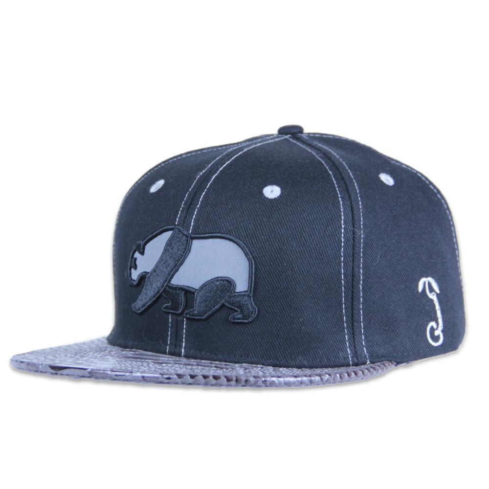 Black Reflective Panda Alligator Brim Snapback