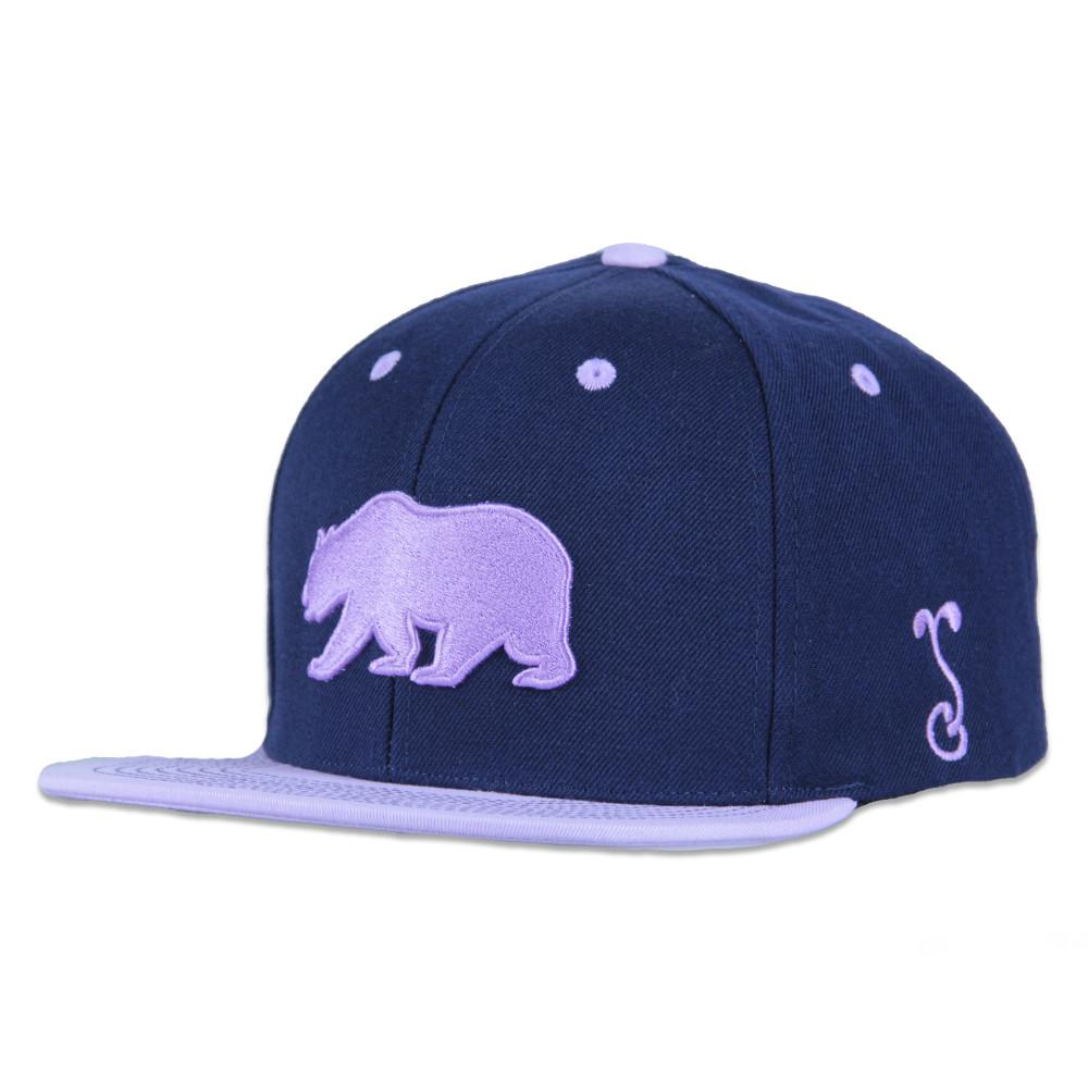 Classic Navy Purple Bear Snapback