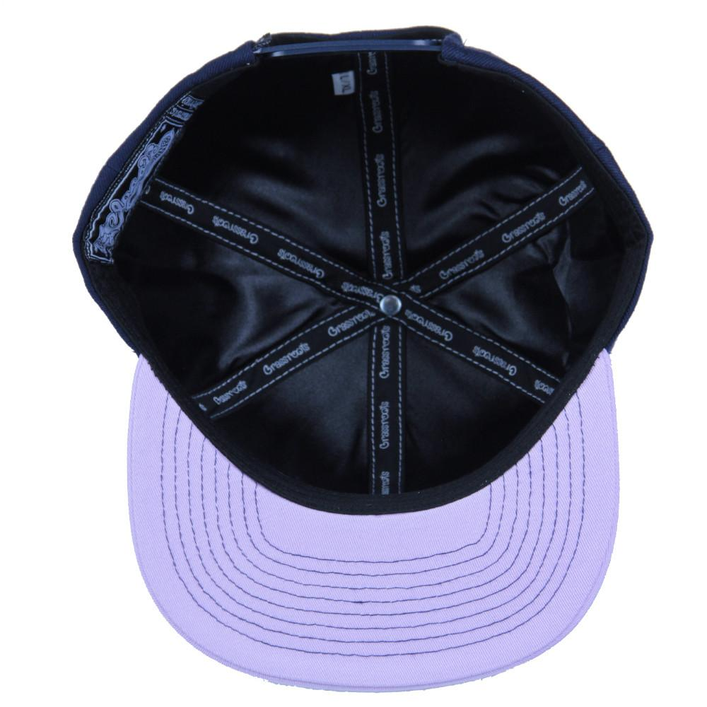 Classic Navy Purple Bear Snapback - Grassroots California - 2