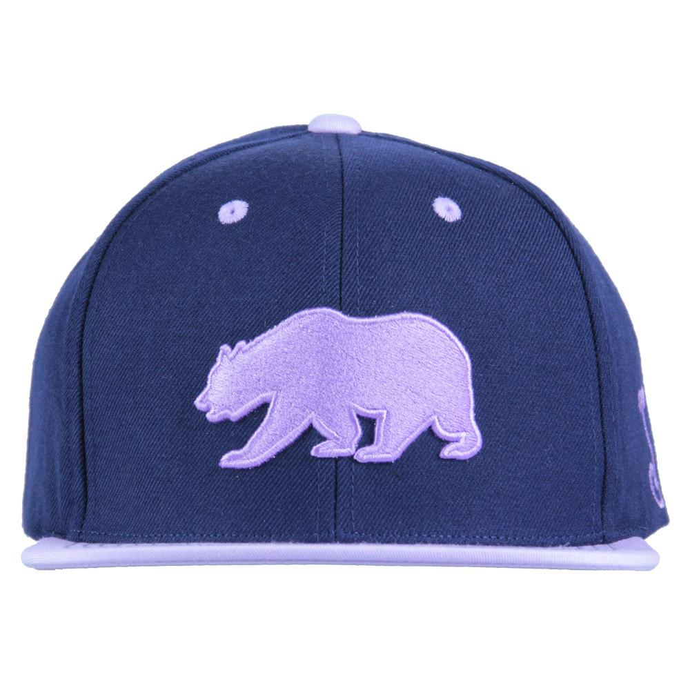 Classic Navy Purple Bear Snapback - Grassroots California - 3