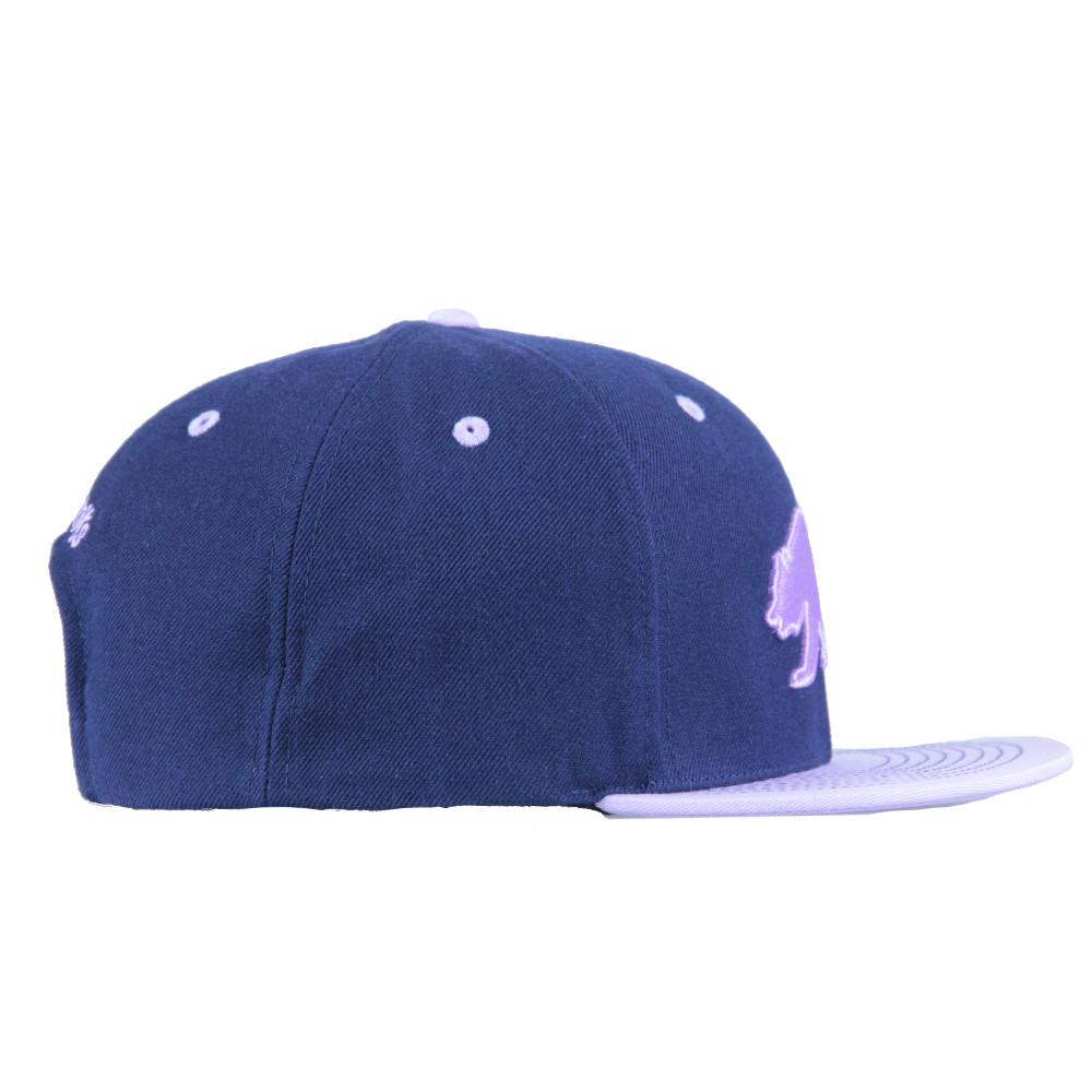 Classic Navy Purple Bear Snapback - Grassroots California - 4