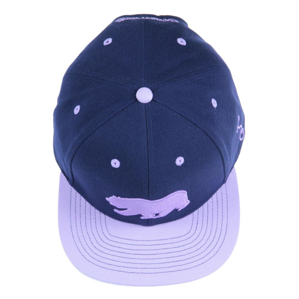 Classic Navy Purple Bear Snapback - Grassroots California - 6