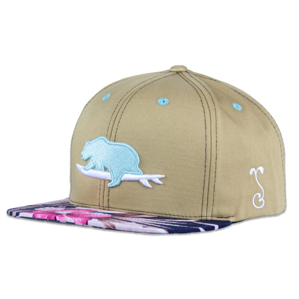 Classic Floral Surfing Bear Snapback