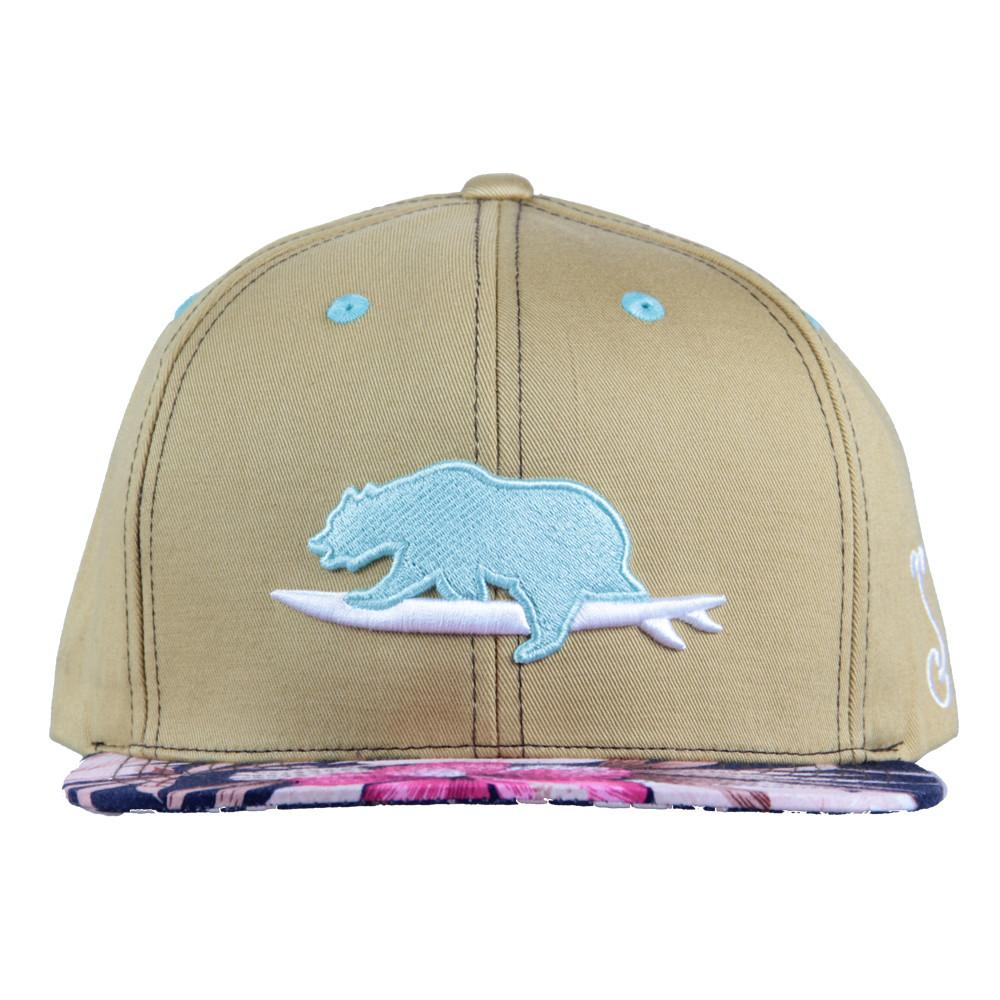 Classic Floral Surfing Bear Snapback - Grassroots California - 3