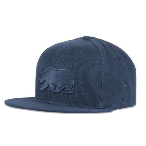 Classic Murdered Out Bear Snapback - Grassroots California - 1