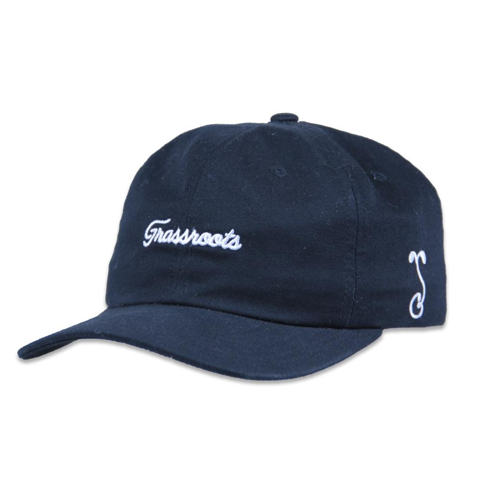 Grassroots Black Script Dad Hat - Grassroots California - 1