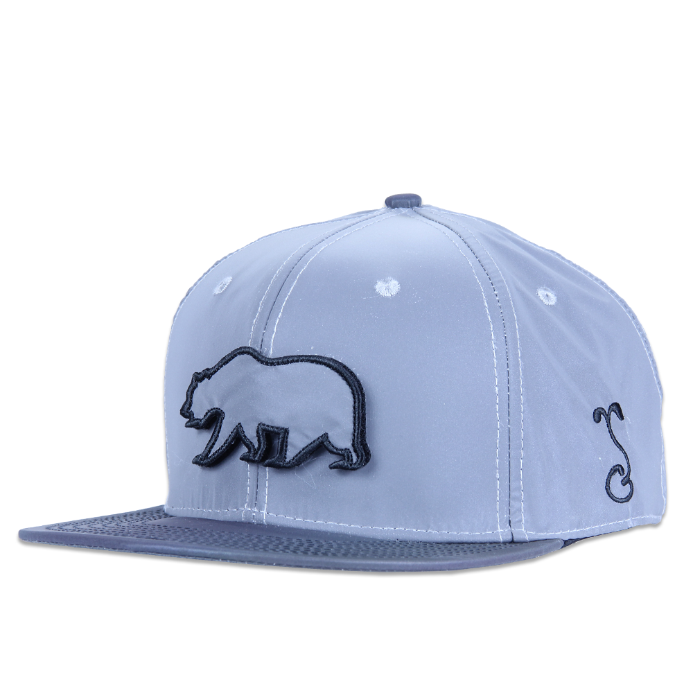Removable Bear Reflective Snapback