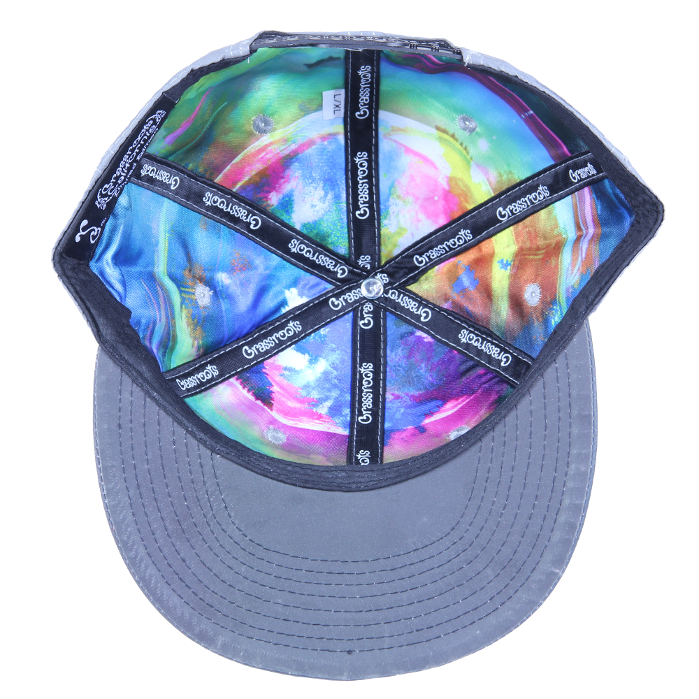 Removable Bear Reflective Snapback - Grassroots California - 3