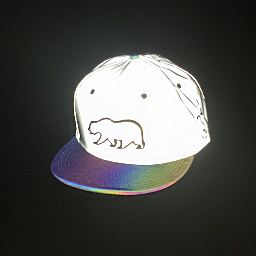 Removable Bear Reflective Snapback - Grassroots California - 2