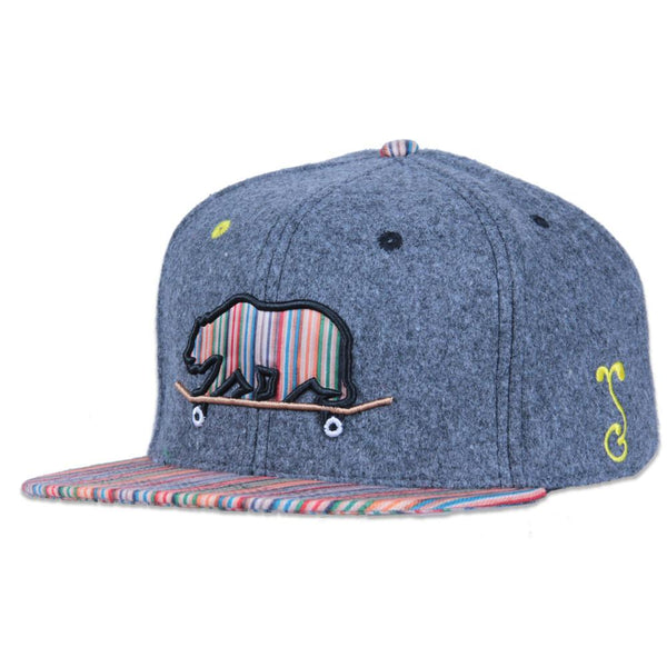 Skateboard Bear Nugs and Bolts Snapback - Grassroots California - 1
