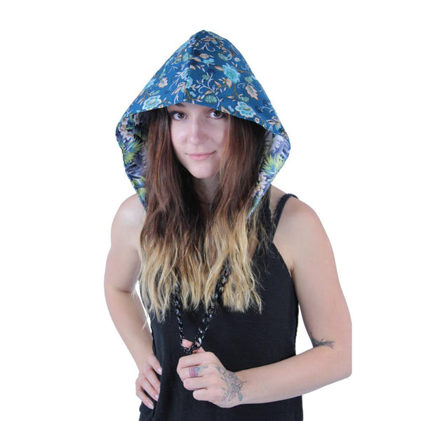 Floral Reversible Chain Hood - Grassroots California - 1