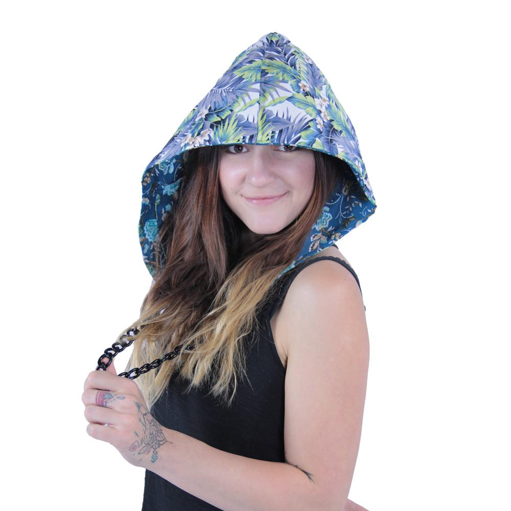 Floral Reversible Chain Hood - Grassroots California - 2
