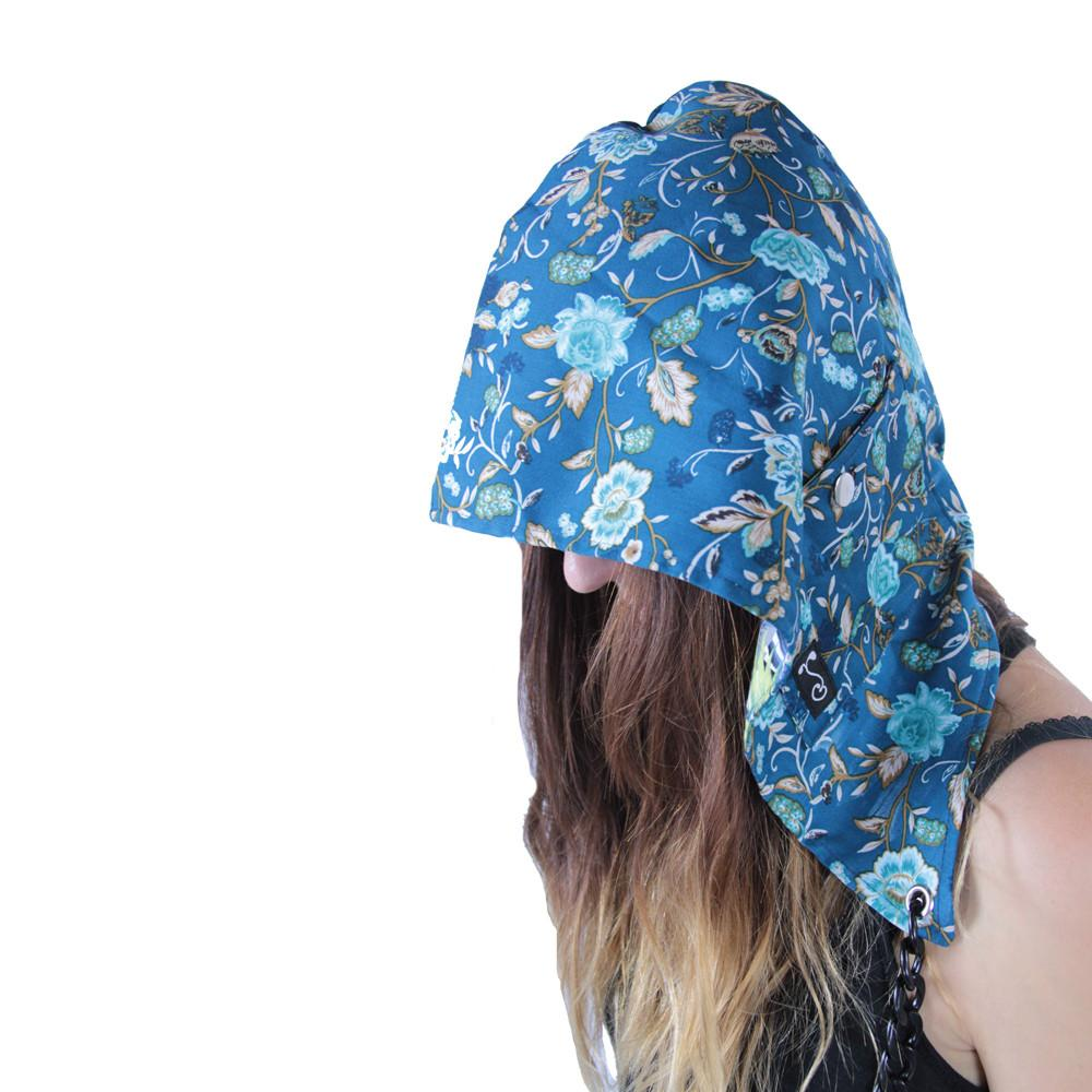 Floral Reversible Chain Hood - Grassroots California - 3