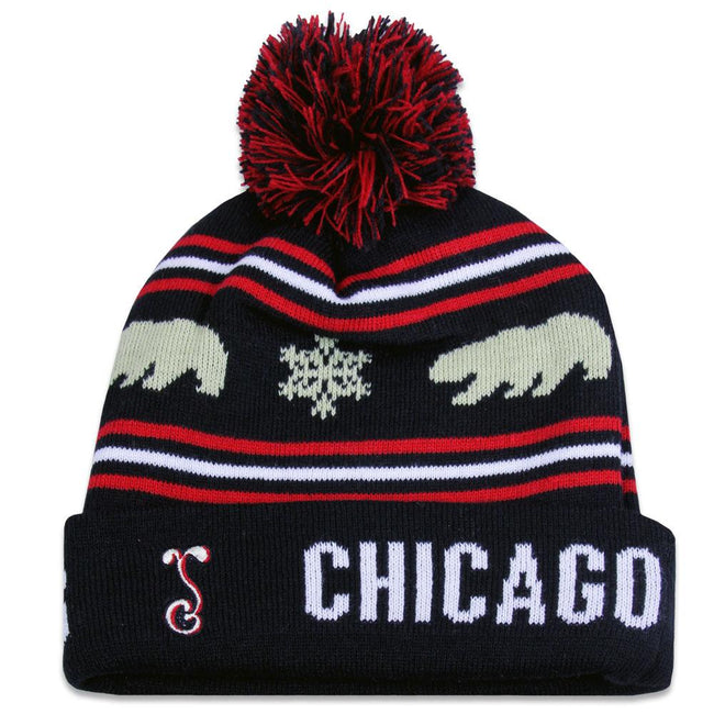 College Chicago Blunt Feathers Black Red 2017 Beanie